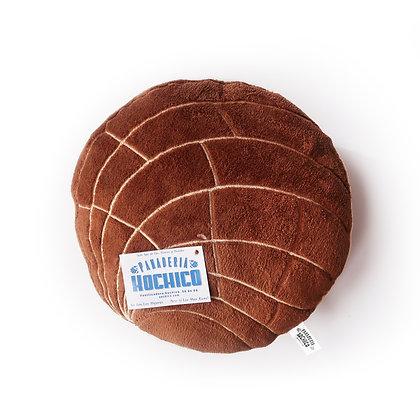 Chocolate Concha Pillow by Xochico Design