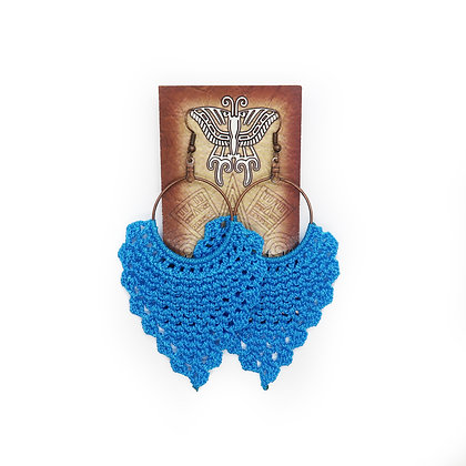 Crochet Earrings - Light Blue
