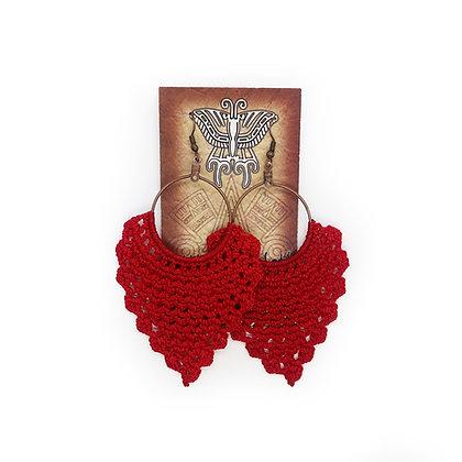 Crochet Earrings - Red
