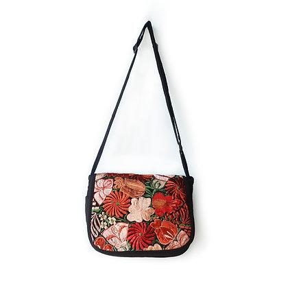 Embroidered Messenger Bag - Fall