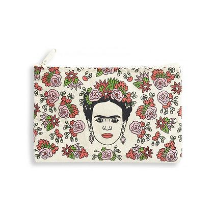 Frida Canvas Makeup Bag