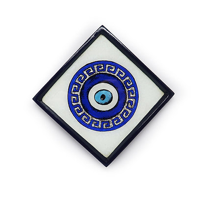Evil Eye Glass Painting Wall Hanging