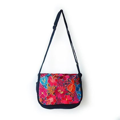 Embroidered Messenger Bag - Spring