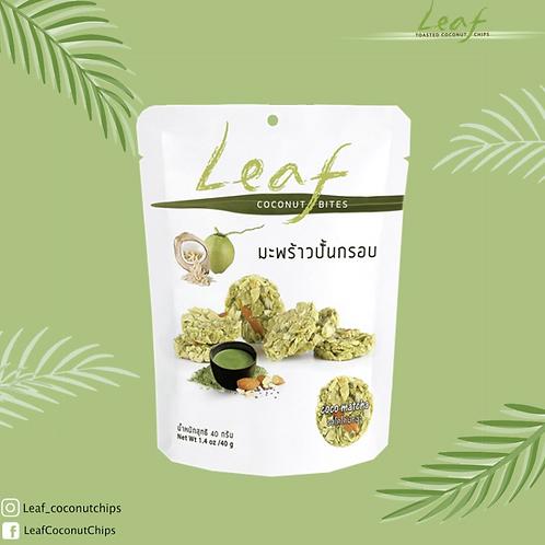 一口椰子脆球- 綠茶燕麥 | Leaf