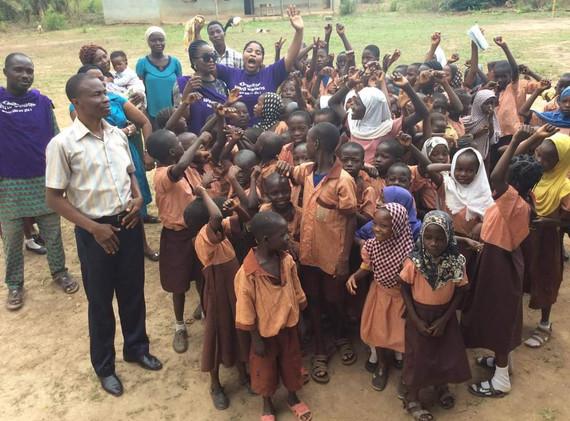 School children with Children for World Children