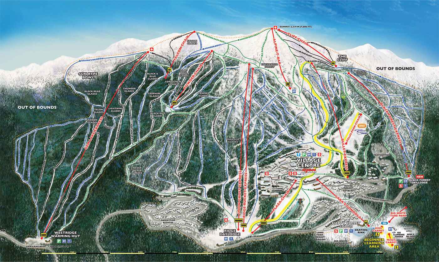 Big White Ski Mountain Map