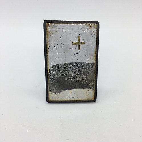 RBJB33 Framed Brooch with Cross