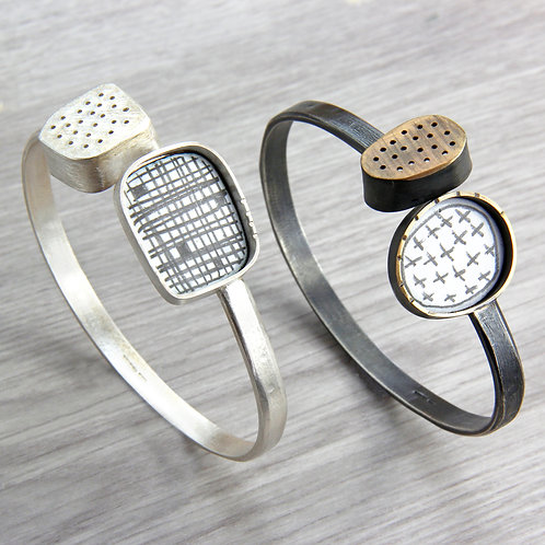 RBJBa1 Bangle with Two Shapes