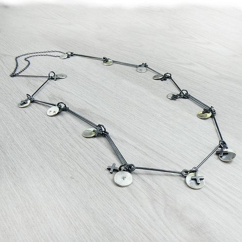 RBJP52 Disc and Cross Necklace
