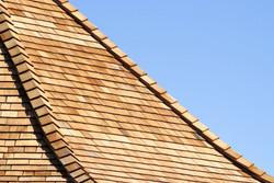 Cedar roofing tiles