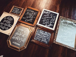 #chalkboardlettering #chalklettering #handlettered #handlettering #pnwwedding #pmwweddings #weddings