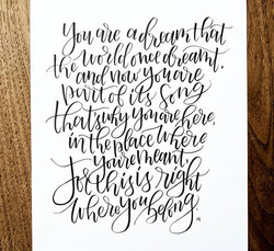 Sometimes words are just meant to fit together perfectly just like this _#brushlettering #handletter
