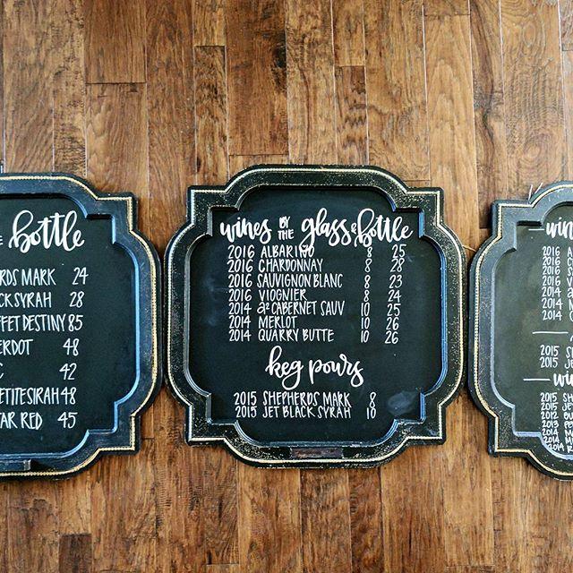 #chalkink #chalkboard #chalklettering #chalkboardsign #winelist #chalkwine #winerychalkboard #harves