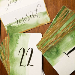 How dreamy are these watercolored cards_!_ 😍