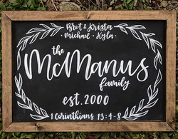 Love love love that you all are loving these name signs! N E W in 2018 will be three standard sizes