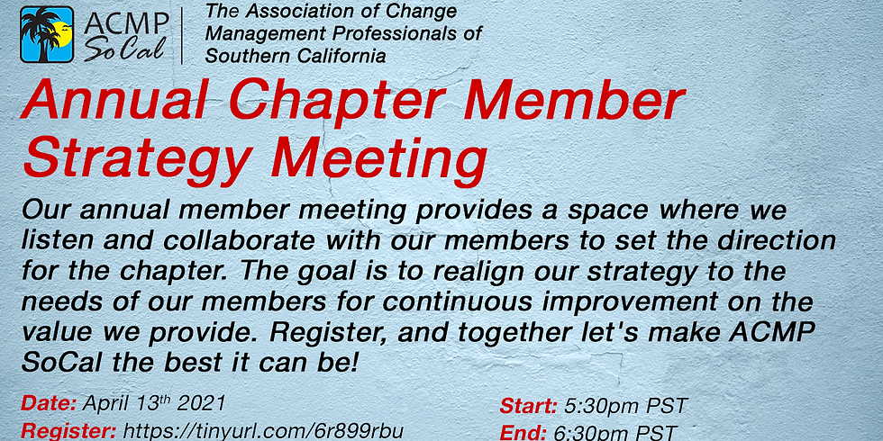 Annual Chapter Member Strategy Meeting