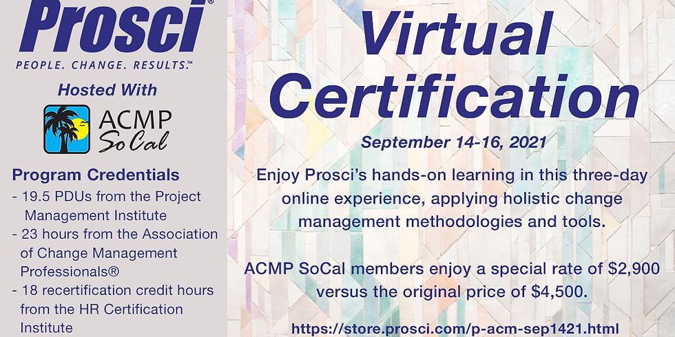 Prosci Certification