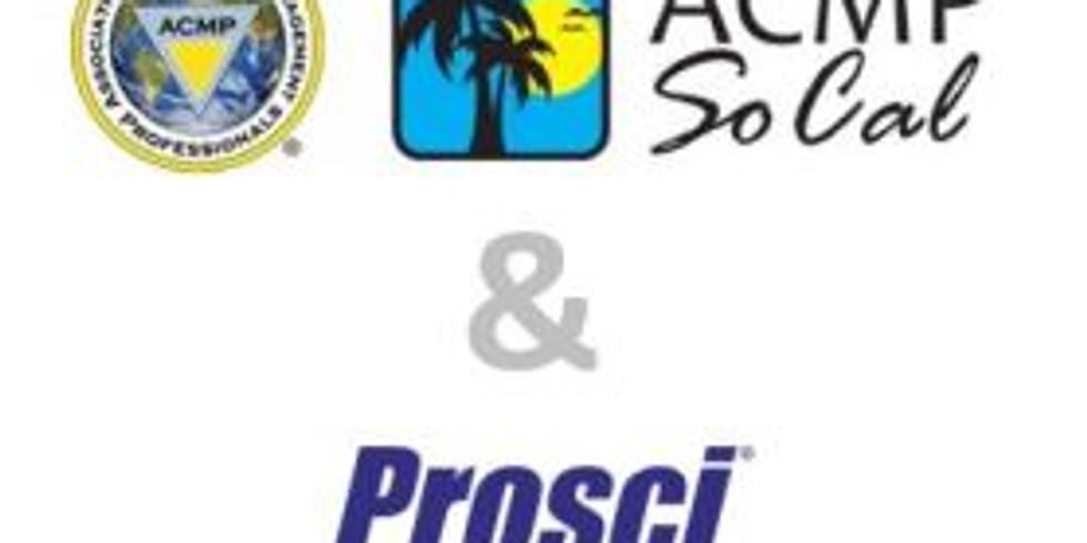 PROSCI CHANGE MANAGEMENT PRACTITIONER CERTIFICATION TRAINING