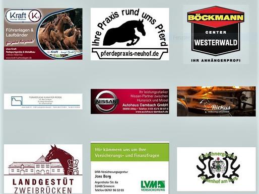 Unsere Förderer - DANKE .... für die tolle Unterstützung des Trakehner Pferdes und seinen Menschen,