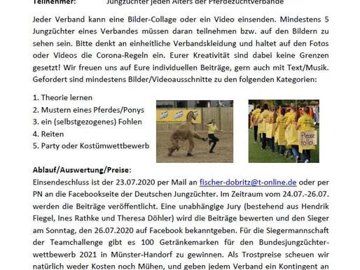 1. Online-Bundesjungzüchterwettbewerb 2020 - Corona Teamchallenge