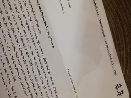Einladung zum Perspektivlehrgang Dressur bei Anabel Balkenhol oder Christoph Hess