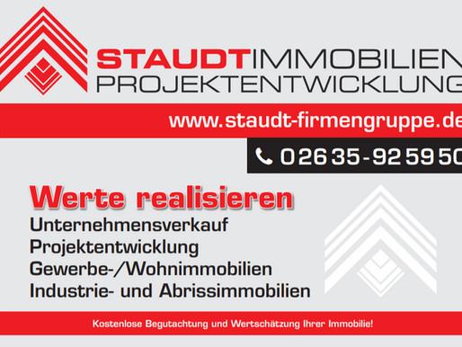 STAUDT FIRMENGRUPPE -> Werte realisieren! Unternehmensverkauf, Projektenwicklung, Gewerbeimmobilien
