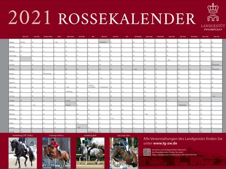 Frühjahrszeit ist Besamungszeit... hier noch einmal der nützliche ROSSEKALENDER 2021 zum Download