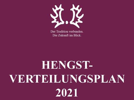 Die Printausgabe des Hengstverteilungsplanes 2021 - auch Nicht-Mitglieder erhalten diesen gratis