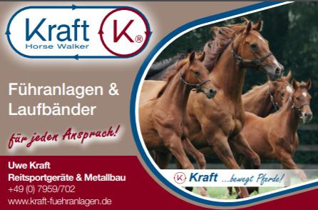 Ein weiterer Förderer / Sponsor des Zuchtbezirks: Fa. Uwe Kraft - Führanlagen & Laufbänder