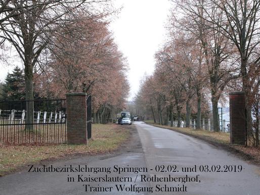 1. Zuchtbezirkslehrgang Rheinland-Pfalz, Saarland, Luxemburg 2019 – Springlehrgang mit Wolfgang Schm