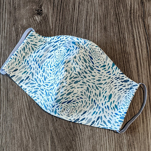 Cloth Mask - Fish Swirlies