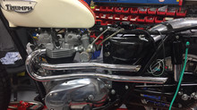 1966 T120C TT Restoration - Pipes & Tribulations - November Update