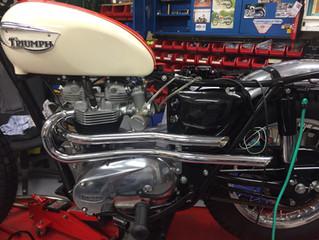 1966 T120C TT Restoration - Pipes & Tribulations - November Update