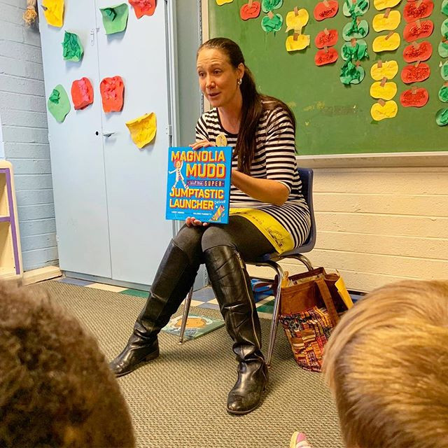 Reading to kids? Never gets old. Tiny kid chairs? Maybe getting a little old.