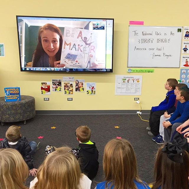 Thanks to all the #educators and #librarians bringing me into schools and homes with virtual visits!