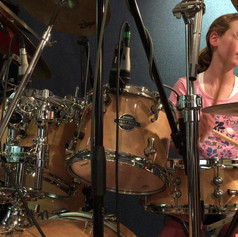 Jessica practicing open Hi-Hats for the first time.