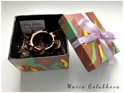 Wooden bracelet in the box
