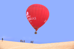 balloon over white sand dunes, Muine