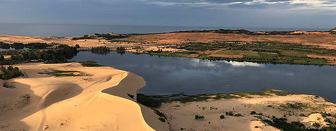 White Sand Dunes near Mui Ne, Vietnam, from Hot Air Balloon