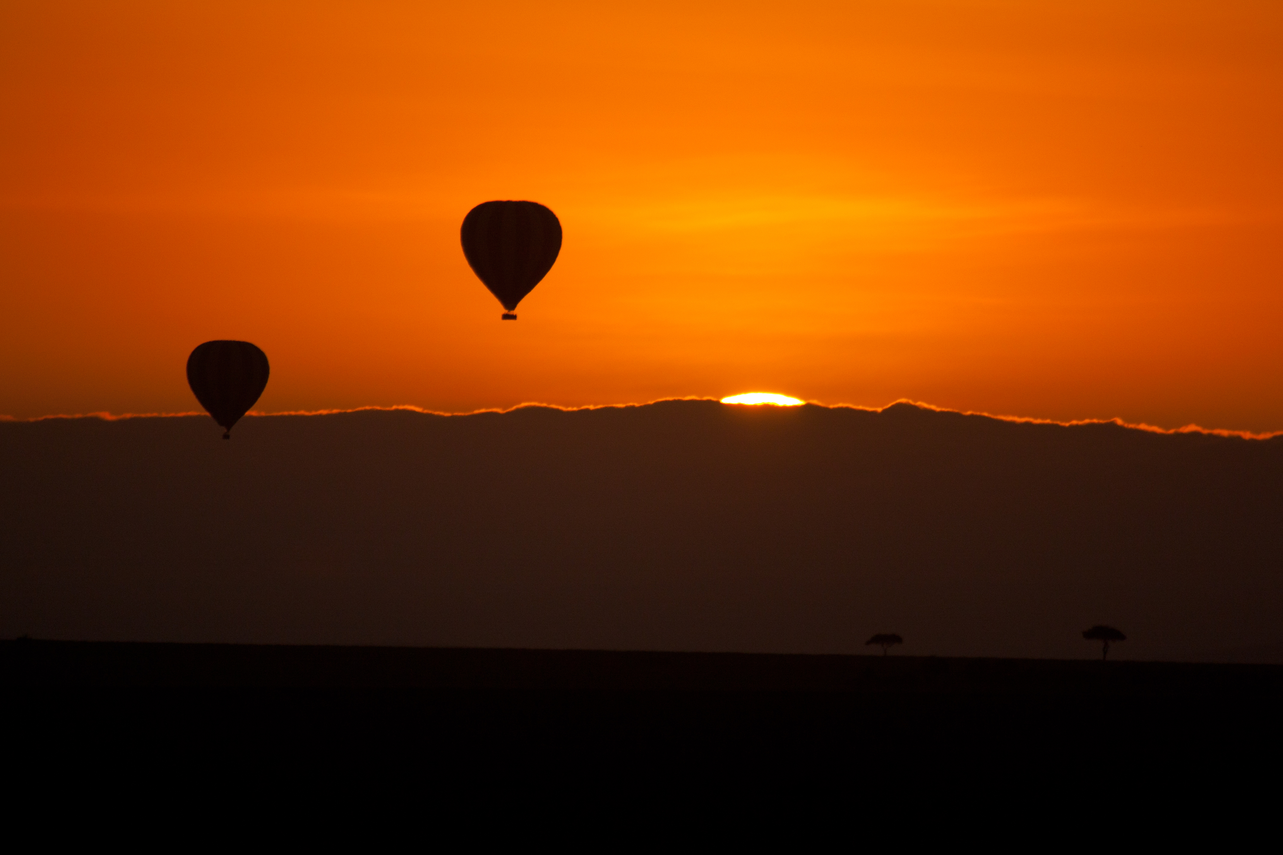 Balloons sunrise