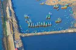 Phan Thiet harbour from balloon