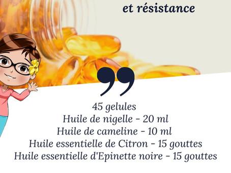 DIY - Gélules tonus et résistance