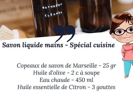 """DIY """"Savon liquide pour les mains - spécial cuisine"""""""