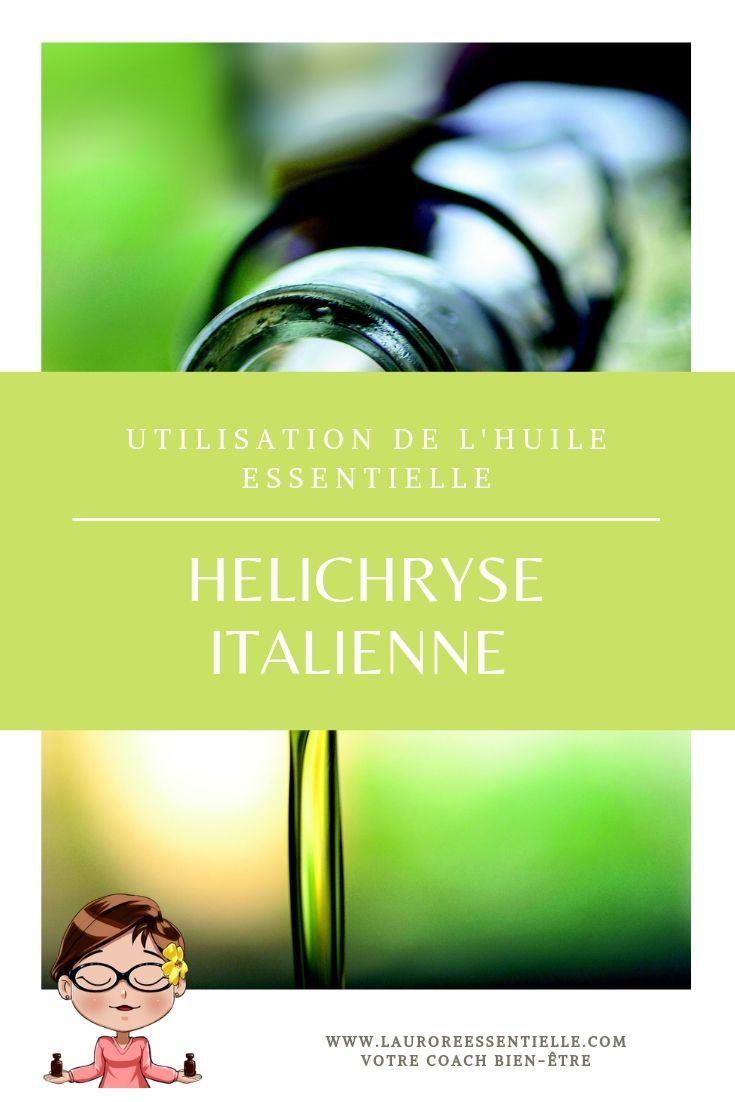 Utilisation de l'huile essentielle de l'helichryse italienne