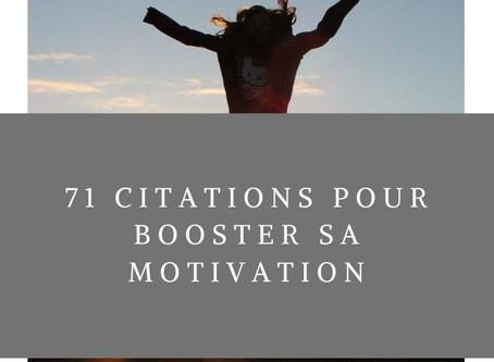 71 citations pour booster sa motivation