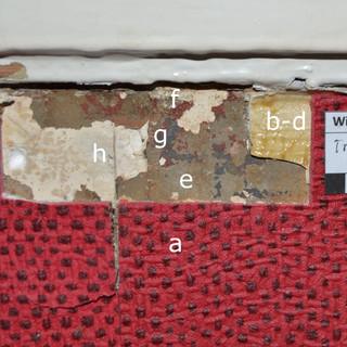 Befunduntersuchung Treppenhaus - Reste einer früheren Wandgestaltung