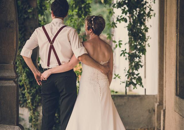Hochzeitspaar in Vintage