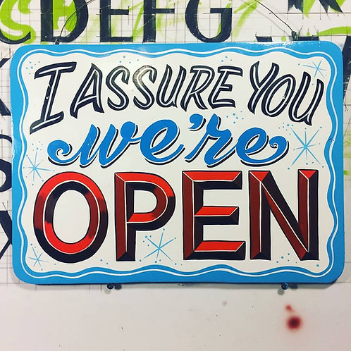 """""""Clerks"""" Open/Closed sign"""