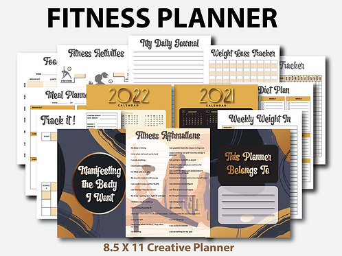 Manifesting the Body I Want (Fitness Planner)