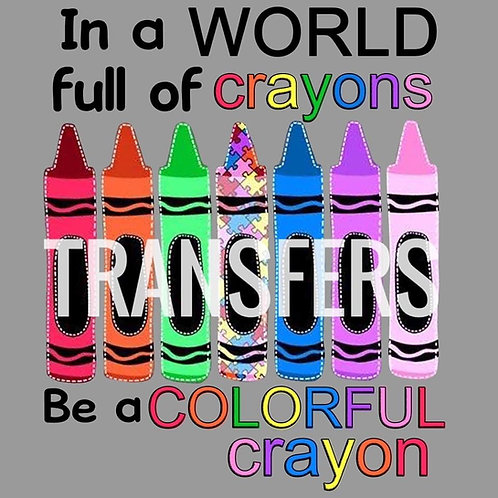 Colorful Crayon HTV